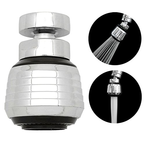 Kabter 360 Degree Swivel Dual Spray Function 2 Flow Kitchen Sink Faucet  Aerator With 55/64u2033 Female Thread